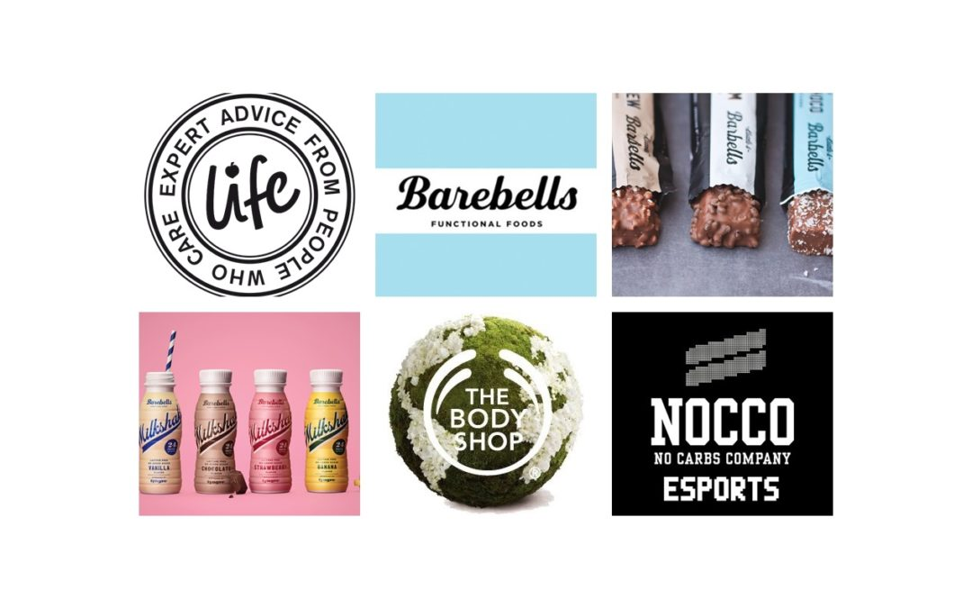 The Body Shop, Barebells, Nocco & Life!